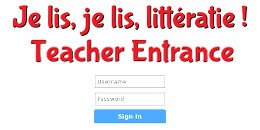 Je lis, je lis littératie! Teacher