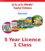 Je lis! Online School Licence - 5 Year Licence (1 Class)