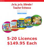 TEACHER Je Lis! Online CDN School Licence - 5+
